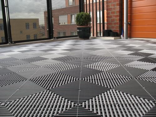 Swissdeck kunststof vloer tegels voor balkon, galerij, terras